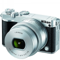 Nikon 1 J5 Digital Camera w/ NIKKOR 10-30mm f/3.5-5.6 PD Zoom Lens - Silver