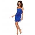 Speakeasy Tiered Fringe Flapper Dress