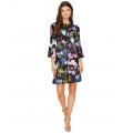 Augusta Bell Sleeve Floral  Printed Dress